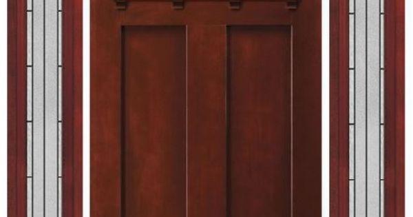Jeld Wen Craftsman Camber Door W Full Sidelights Shown In