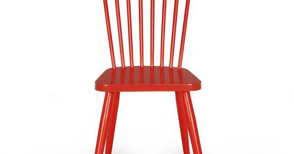 Chaise Vintage Rouge Rouge Cleo Chaises Tables Et