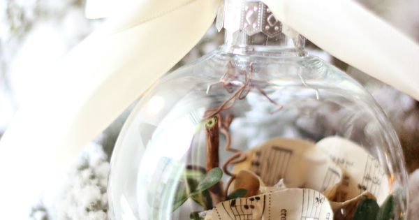 Craftberry Bush: Music Sheet Rose Christmas Bulb...