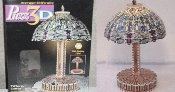 Wrebbit 3d Puzzle Tiffany Lamp W 295 Pcs Lamp Tiffany Lamps Novelty Lamp