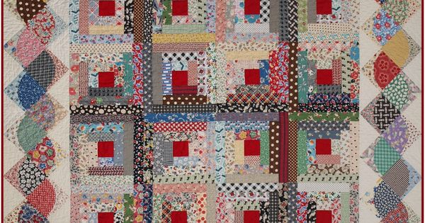 Log Cabin Quilt With Interesting Border Quilt Borders