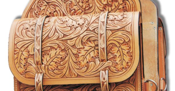 Oak Leaf Tooled Leather Saddle Bag By Evg Leather Www