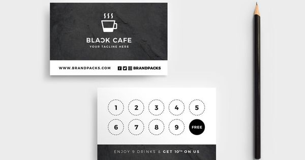 Free Loyalty Card Templates Psd Ai Vector Brandpacks Throughout Business Punch Card Tem Loyalty Card Design Customer Loyalty Cards Loyalty Card Template