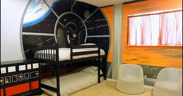 Outer space themed bedroom decorating ideas kids bedrooms for Outer space childrens decor