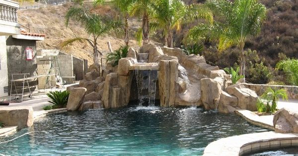 Artificial Rock Slides For Swimming Pools For The Home