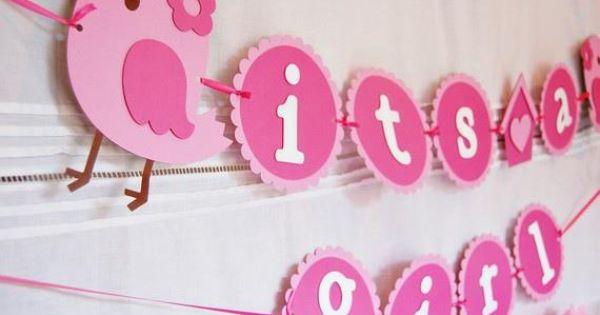 Kan ook als decoratie als baby geboren is geboorte pinterest geboorte slinger en idee n - Shabby chique kamer ...