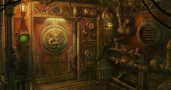 Steampunk door mac smith concept art pinterest money today and concept art - Several artistic concepts for main door ...