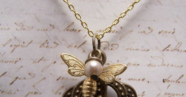 Bee necklace queen bees and bees on pinterest