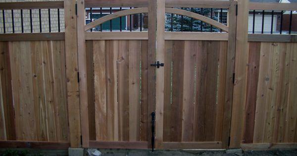 Cedar Decks In Ottawa A Deck And Fence Company Composite Or Wood Cedar Fence Fence Design Fence Gate