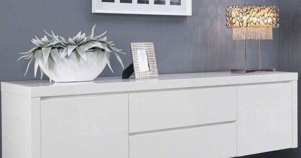 buffet bahut suspendu blanc laqu design tyler deco pinterest bahut suspendu et design. Black Bedroom Furniture Sets. Home Design Ideas
