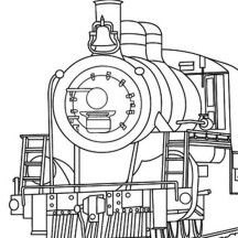 Steam Train Coloring Page For Kids Train Coloring Pages