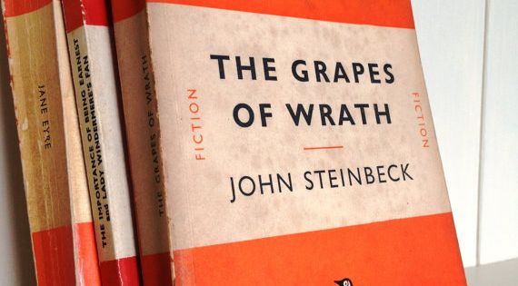 Penguin Book Cover Quotes ~ Vintage penguin classics book the grapes of wrath by john