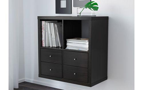 kallax tag re brun noir vinyles tiroirs et stockage de vinyle. Black Bedroom Furniture Sets. Home Design Ideas