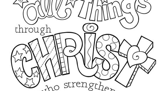 I Can Do All Things Through Christ Coloring Page 85X11