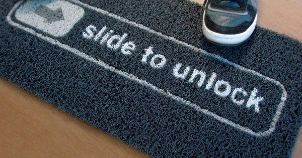 Slide to Unlock Doormat $50 - Is this cool or what?! doormat