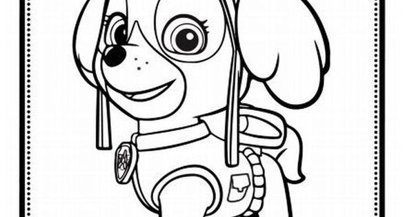 Skye The Eye On The Sky Cute Pup From Paw Patrol Coloring