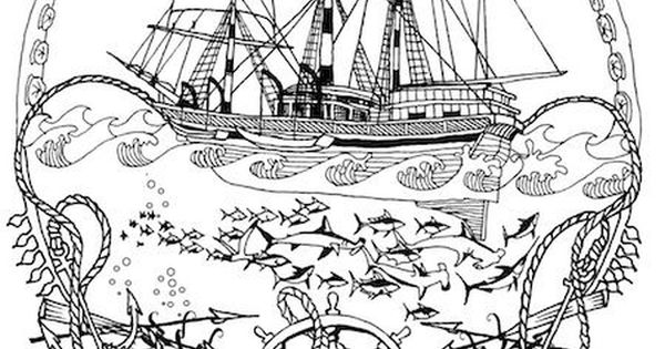nautical coloring pages for adults - photo#18