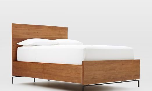 nash teak storage bed west elm yes it 39 s a storage bed but i don 39 t like all the hard surface. Black Bedroom Furniture Sets. Home Design Ideas