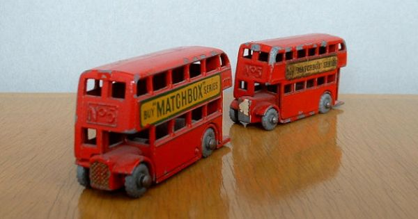 Vintage matchbox no 5 lesney double decker bus buses by for Double decker crib