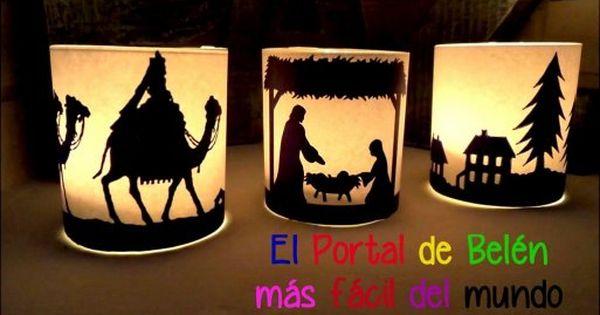 El portal de bel n diy m s f cil del mundo navidad - Belen navidad manualidades ...