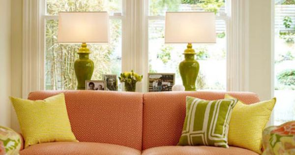 Yellow Pink And Green Living Room See More At Http