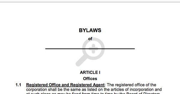 Free Corporation Bylaws Corporate bylaws template – Corporate Bylaws Template Free