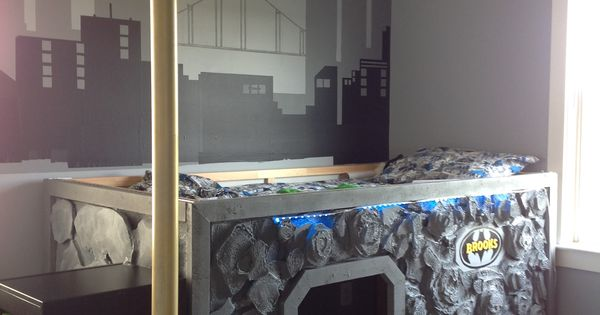Superhero Bed Bat Cave Bed In Brooks Room Used Ikea