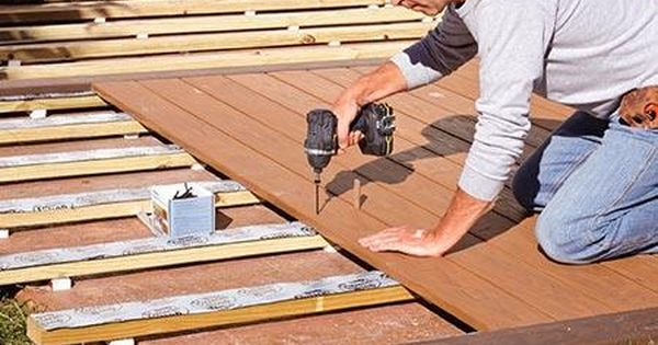 How To Build A Deck Over A Concrete Patio Deck Over Concrete Diy Deck Concrete Patio