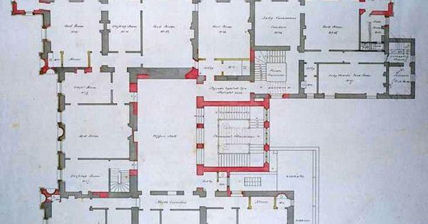 Floor plan downton abbey highclere castle aka downton for Highclere castle blueprints