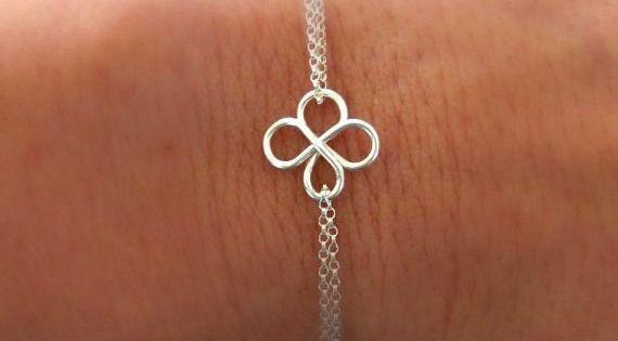 four leaf clover bracelet friendship bracelet bridesmaid