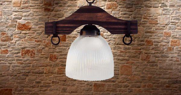 Iluminacion rustica estilo campo madera envejecida - Iluminacion rustica interior ...