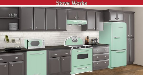 green appliances kitchen mint green elmira appliances give a unique look to your 1346