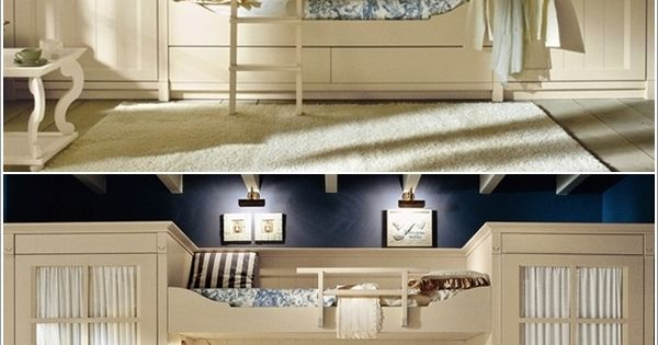 built in bunk beds with separate wardrobes  Small Space Design Ideas  Pinterest