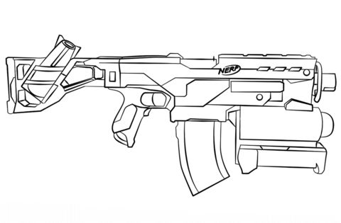 Nerf Gun coloring page from Misc. Toys and Dolls category ...
