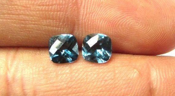 Black Onyx Natural Gemstone Size 6 mm Faceted Cut Trillion Cabochon Shape Beads Gemstone