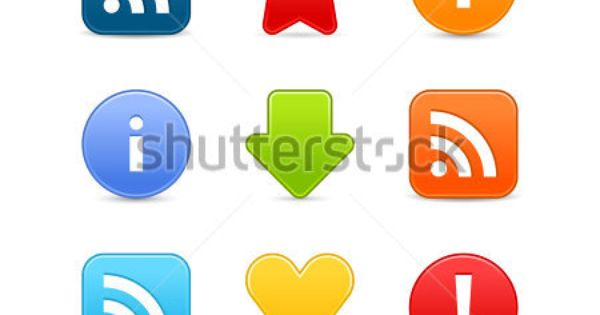 More my images http://www.shutterstock.com/gallery-498844.html — Satin smooth web 2.0 internet button set.