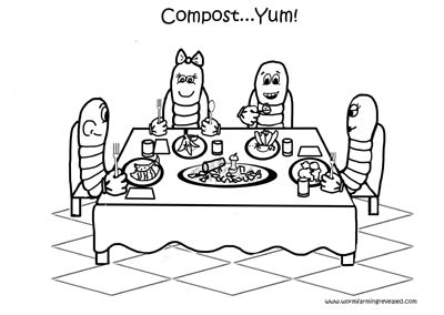 Family Dining Coloring Pages Worms Ramadan Activities