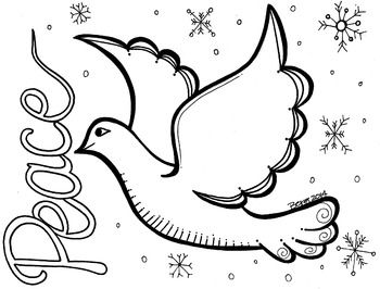 Peace Dove Coloring Sheet Peace Dove Students Christmas Peace Crafts
