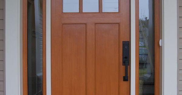 Quaker craftsman front door custom home exteriors for Craftsman french doors