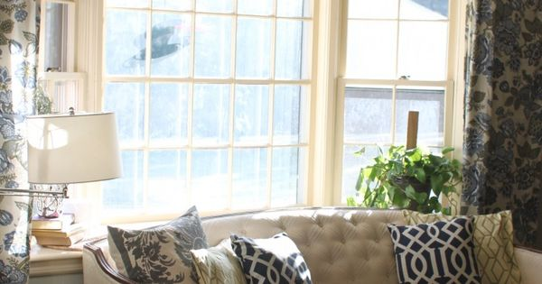 Put the couch back in front of the bay window house for What to put in front of a bay window