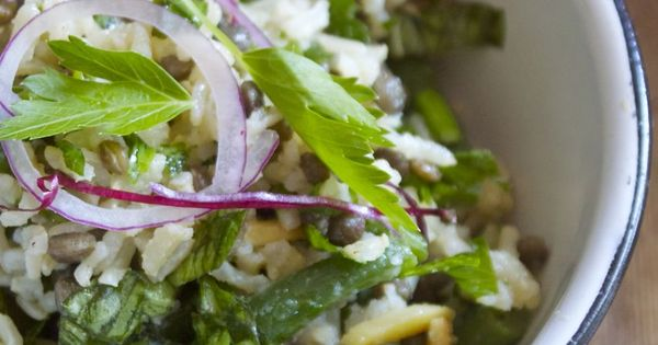 French lentils, Lentil salad and Brown rice on Pinterest