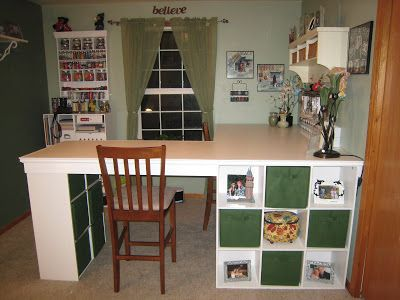 Do It Yourself White Craft Desk Craft Room Desk Diy Crafts Desk Craft Room Design
