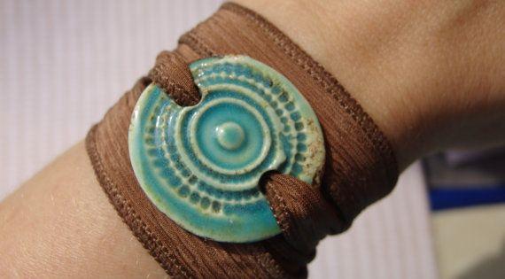 Adorno para pulsera de ceramica esmaltada bijou for Arcilla para ceramica