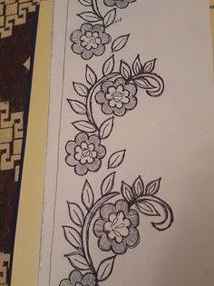 رشمات متنوعة للتنبات والطرز من موقع أم عمران Rachmat Tarz Hand Embroidery Designs Embroidery Designs Handwork Embroidery Design