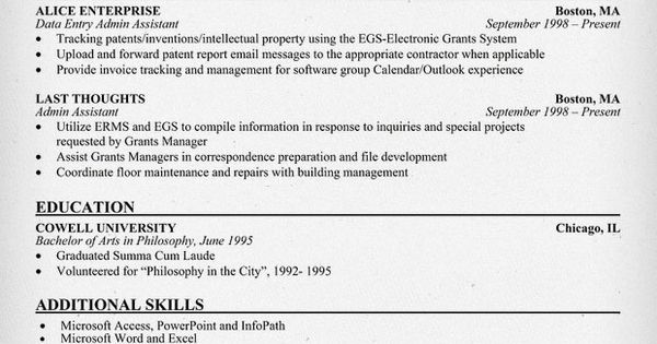 Data Entry Administrative Assistant Resume Example (resumecompanion.com)
