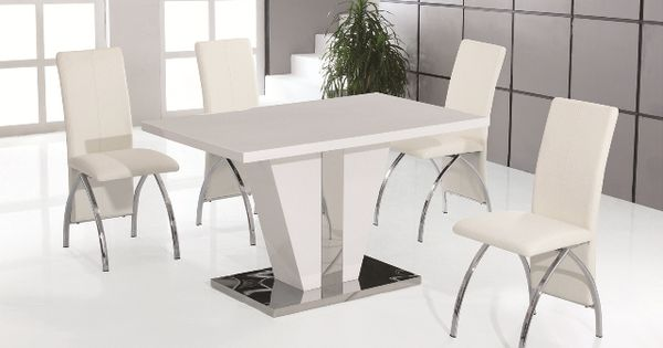 white gloss kitchen table exterior contemporary kitchen wood dining pinterest double wall ovens flooring options and ovens - White Gloss Kitchen Table