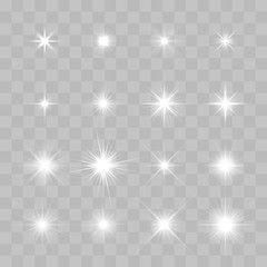 Set Of Vector Glowing Sparkling Stars Sparkle Png Holiday Sparkle Desktop Background Pictures