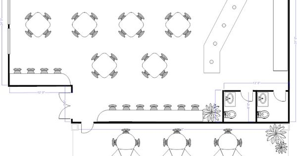 Coffee Floor Plan: Coffee Shop Floor Plan