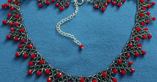 free-beading-pattern-necklace-tutorial-1 | Crafts: Tatting / Beading