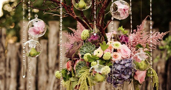 Make a stunning tablescape like this with our Blown Glass Globes, hanging